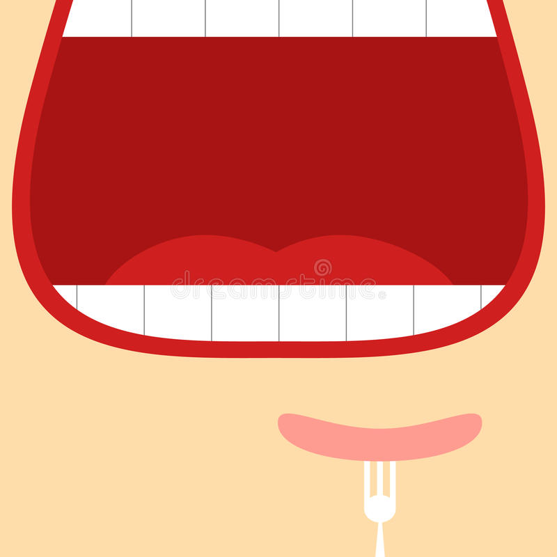 Abra a boca ilustração do vetor