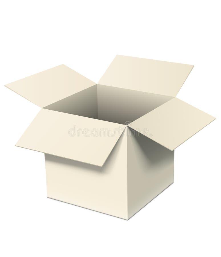 Abra a caixa ilustração stock