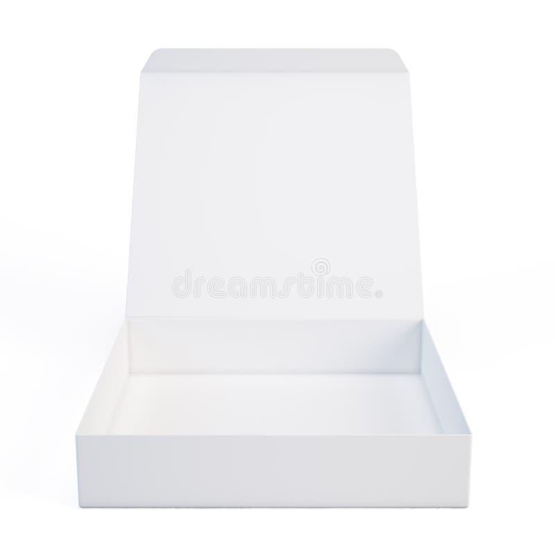 Abra a caixa branca ilustração do vetor