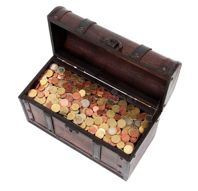 Abra a caixa com dinheiro imagens de stock royalty free