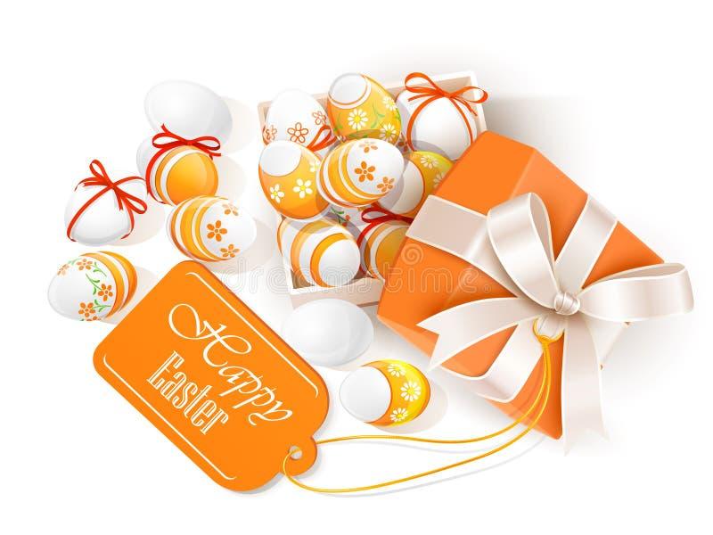 Download Abra A Caixa Com Ovos Da Páscoa Ilustração do Vetor - Ilustração de ovos, comemore: 29842018