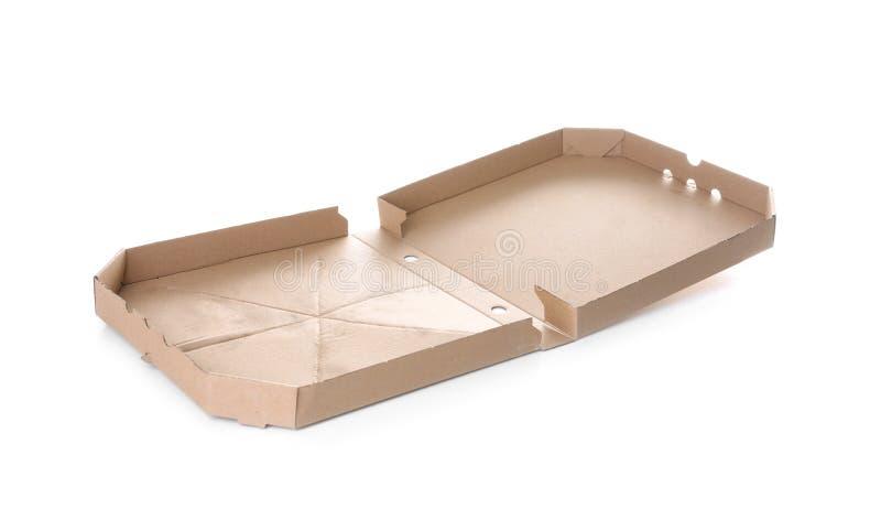 Abra a caixa da pizza do cartão imagem de stock