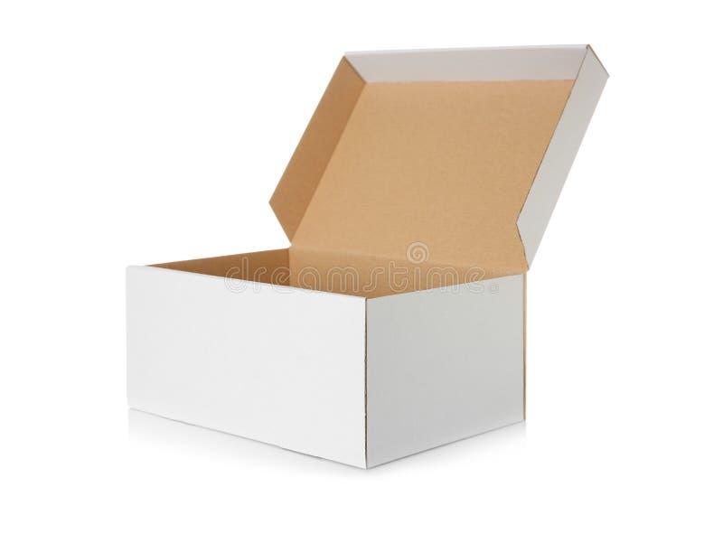 Abra a caixa de cartão foto de stock