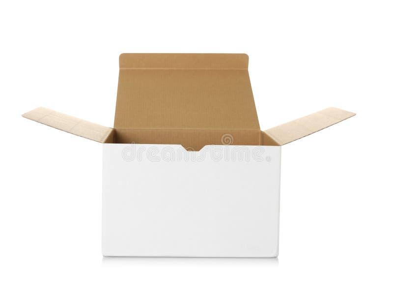 Abra a caixa de cartão imagens de stock