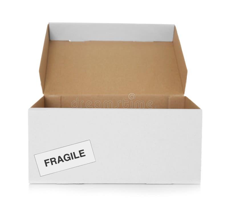 Abra a caixa de cartão foto de stock royalty free