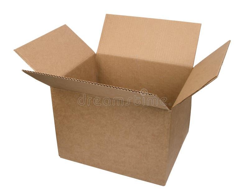 Abra a caixa de cartão fotografia de stock