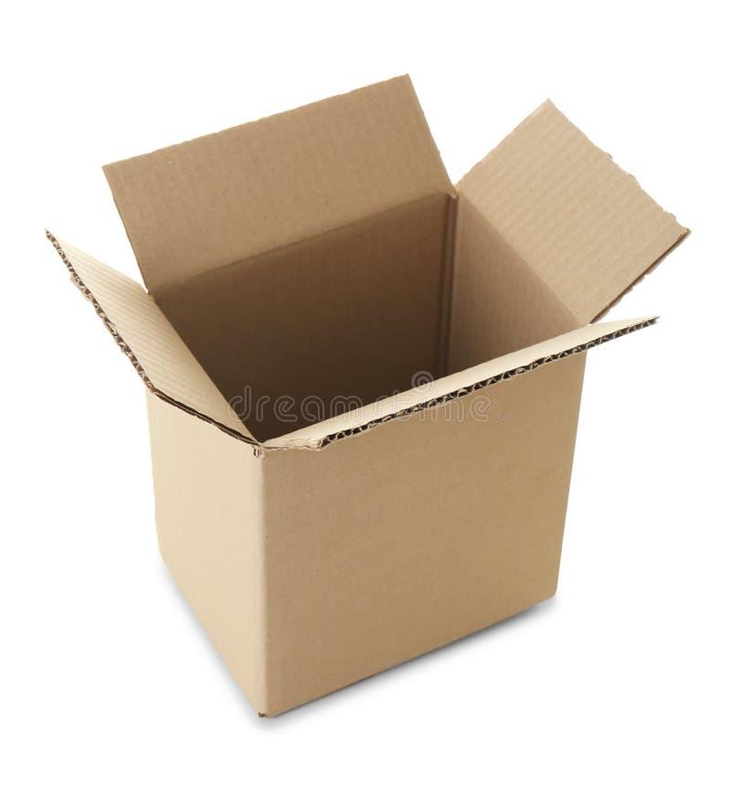 Abra a caixa de cartão vazia fotografia de stock royalty free