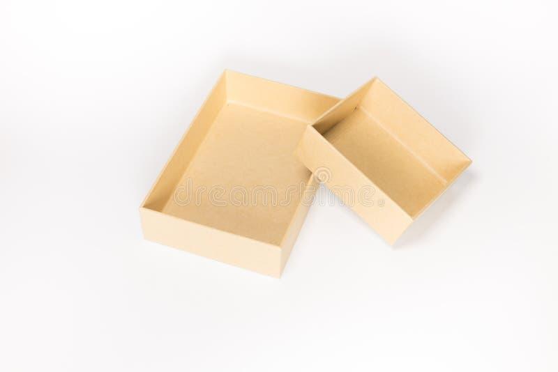 Abra a caixa de papel foto de stock royalty free