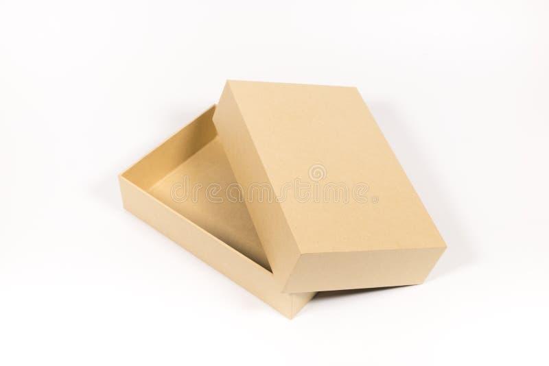 Abra a caixa de papel imagens de stock royalty free