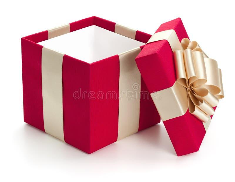 Abra a caixa de presente. imagens de stock royalty free