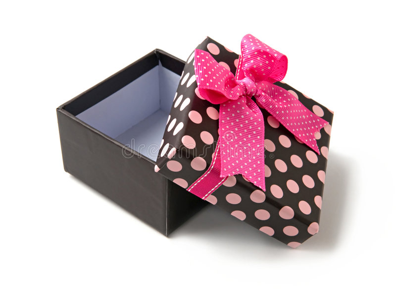 Abra a caixa de presente imagens de stock