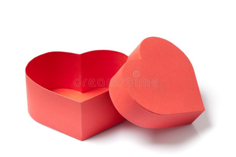 Abra a caixa de presente com uma forma do coração jpg imagem de stock royalty free