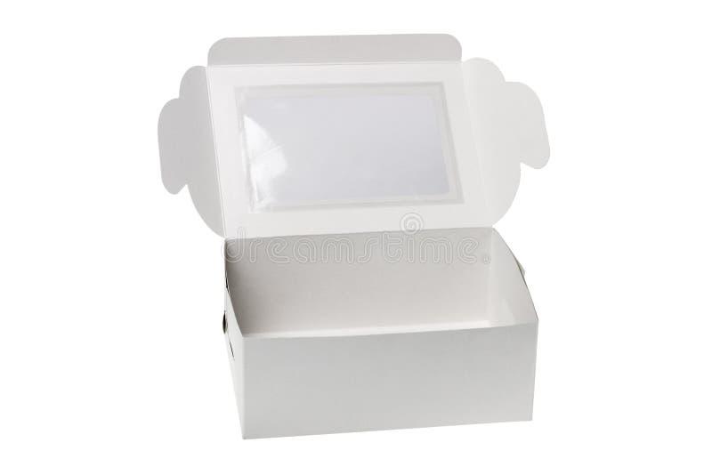 Abra a caixa de presente de papel imagem de stock