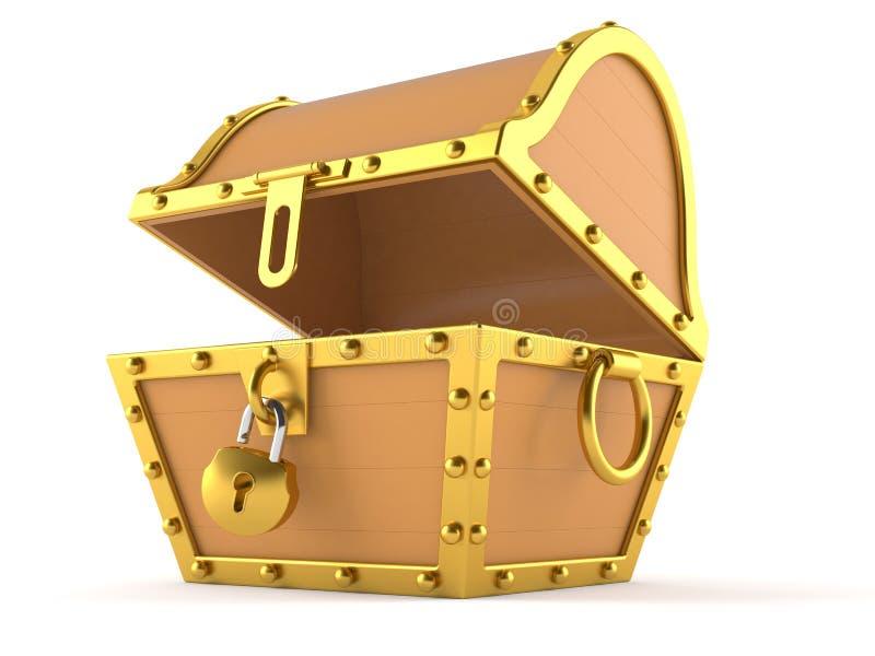 Abra a caixa de tesouro ilustração stock