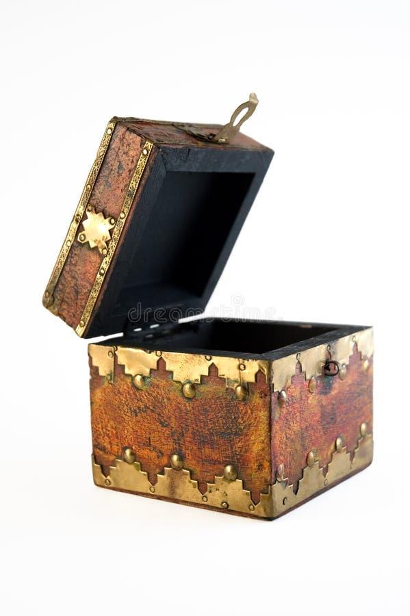 Abra a caixa de tesouro imagens de stock royalty free
