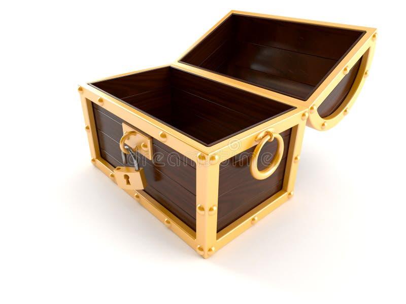 Abra a caixa de tesouro ilustração royalty free