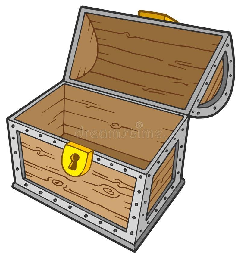 Abra a caixa de tesouro vazia ilustração royalty free