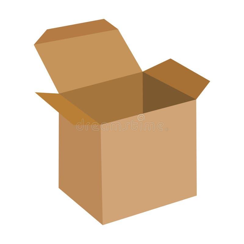 Abra a caixa lisa Ícone Eps 10 da ilustração do vetor ilustração do vetor