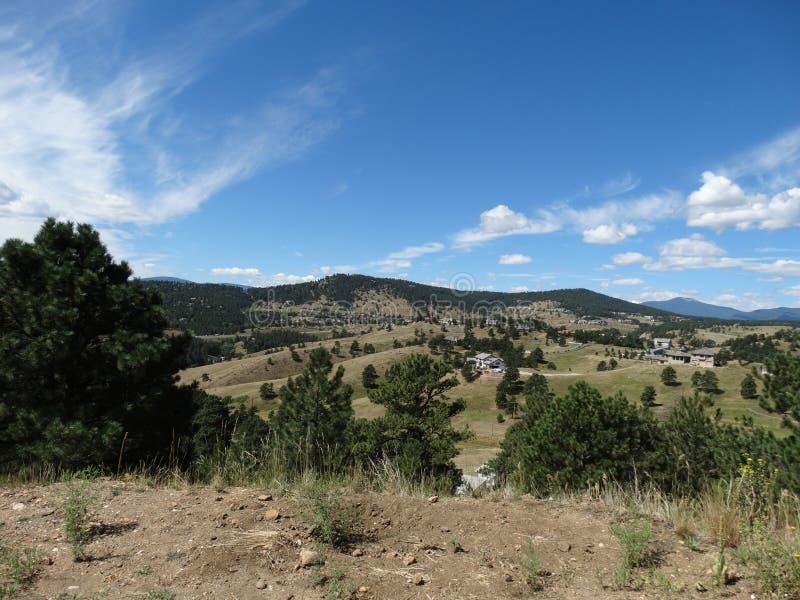 Abra campos e ajardine-os em Colorado imagens de stock royalty free