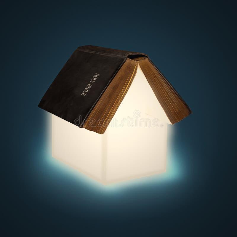 Abra a casa da Bíblia foto de stock
