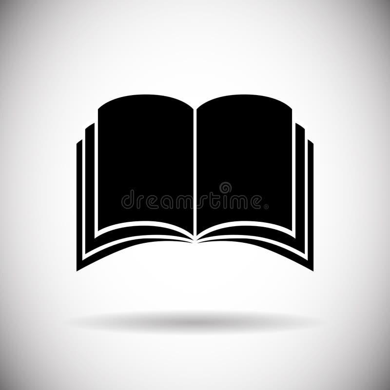 Abra el botón de la aplicación web del icono del libro ilustración del vector