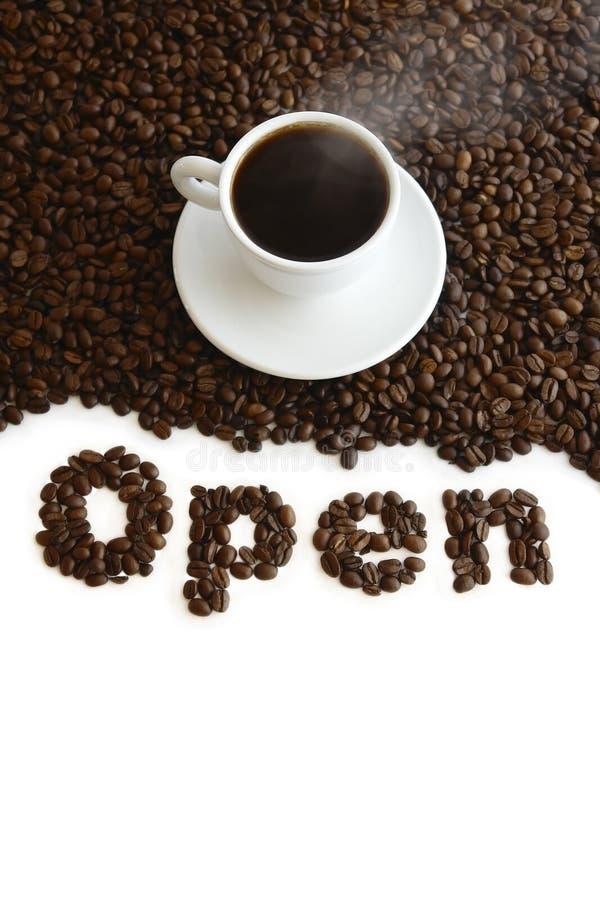 Abra el café imagen de archivo libre de regalías