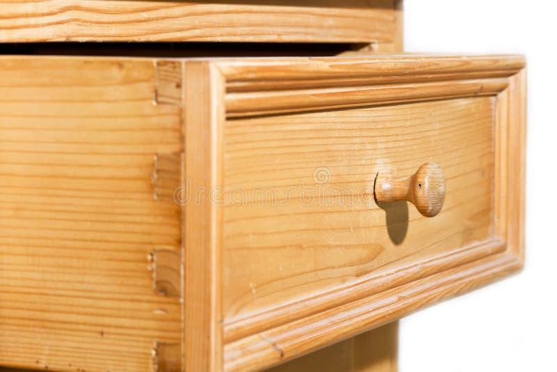 Abra el cajón de madera fotografía de archivo libre de regalías