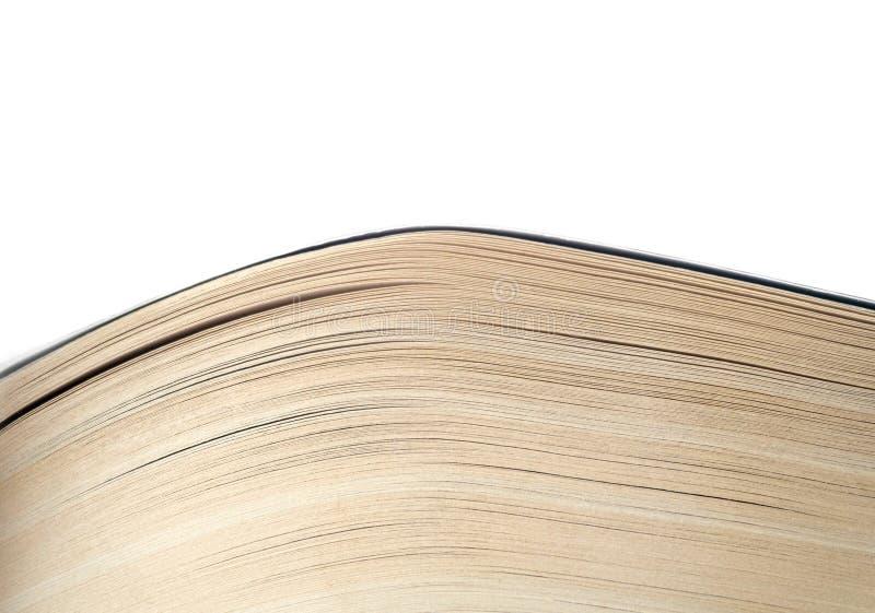 Abra el cierre del libro viejo, página del libro foto de archivo libre de regalías