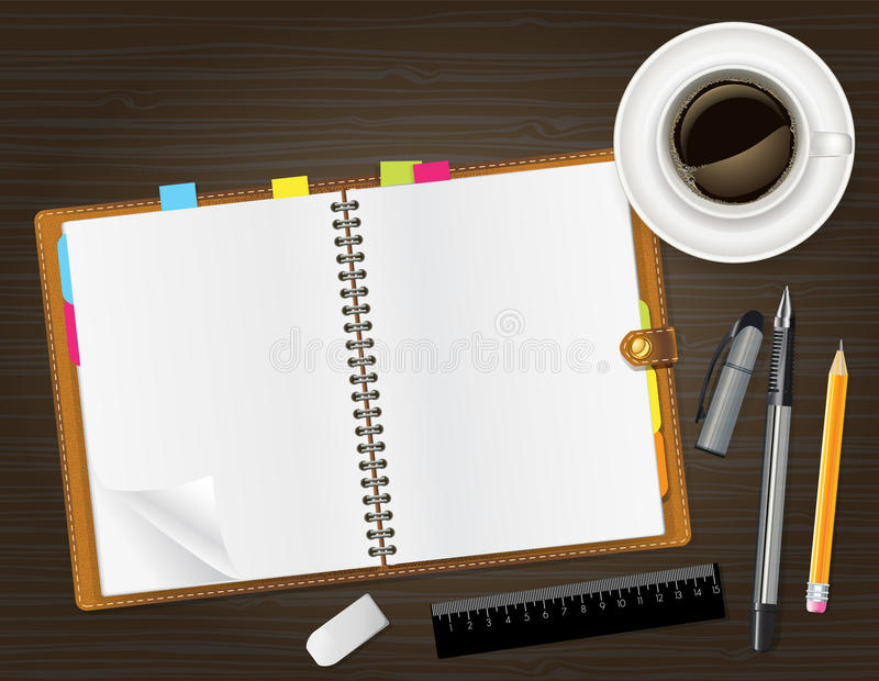 Abra el cuaderno libre illustration