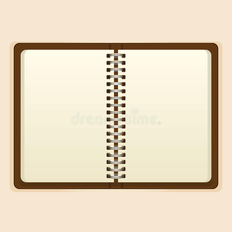 Download Abra El Cuaderno Con La Página Blanca En Fondo Beige Ilustración del Vector - Ilustración de diario, extracto: 41909928