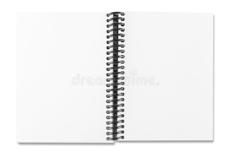 Abra el cuaderno del Libro Blanco imagen de archivo libre de regalías