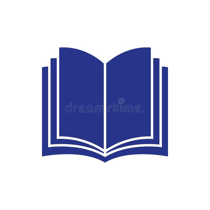 Abra el estilo plano del diseño del ejemplo del vector de la acción del icono del libro stock de ilustración