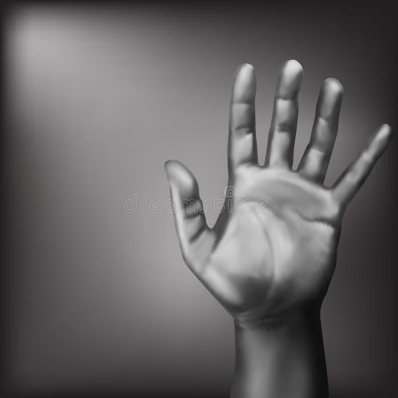 Abra el gesto de la palma ilustración del vector