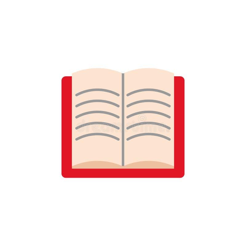 Abra el icono coloreado libro Elemento del icono del ejemplo de la educación Dise?o gr?fico de la calidad superior Muestras e ico imagenes de archivo