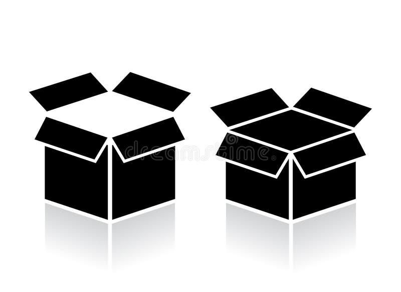 Abra el icono de la caja ilustración del vector