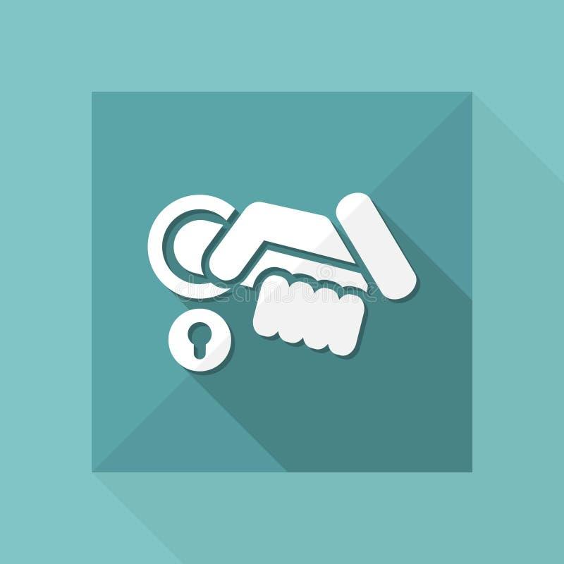Abra el icono de la manija ilustración del vector