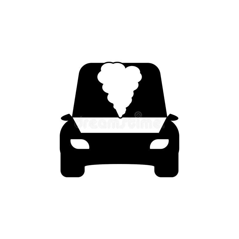 Abra el icono del coche de la capilla stock de ilustración