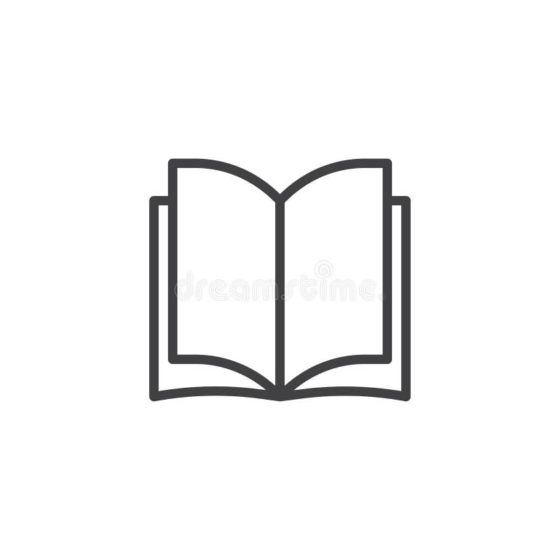 Abra el icono del esquema de las páginas del libro libre illustration