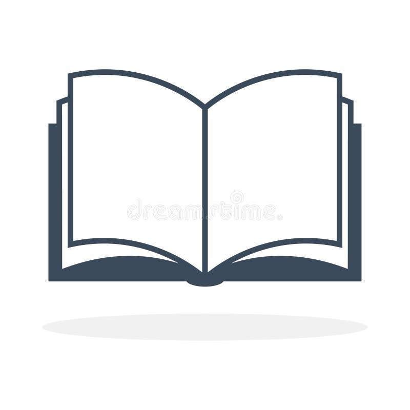 Abra el icono del libro stock de ilustración