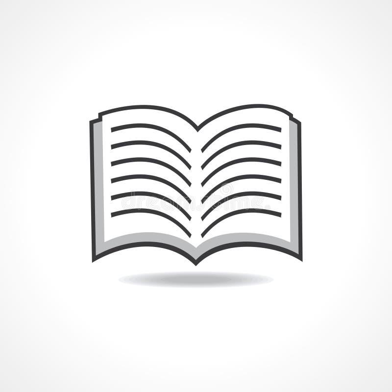 Abra el icono del libro ilustración del vector