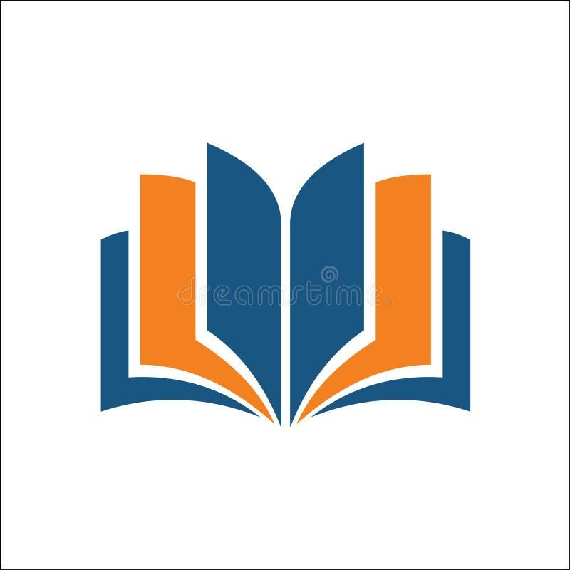 Abra el icono del libro Ejemplo simple del icono abierto del vector del libro para el web stock de ilustración