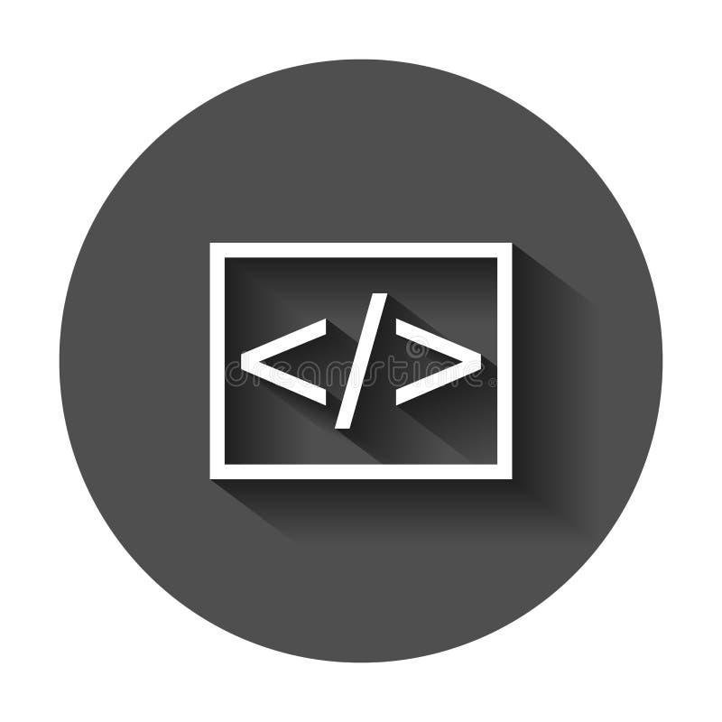 Abra el icono del vector del negocio de la fuente en estilo plano Programación del Api libre illustration