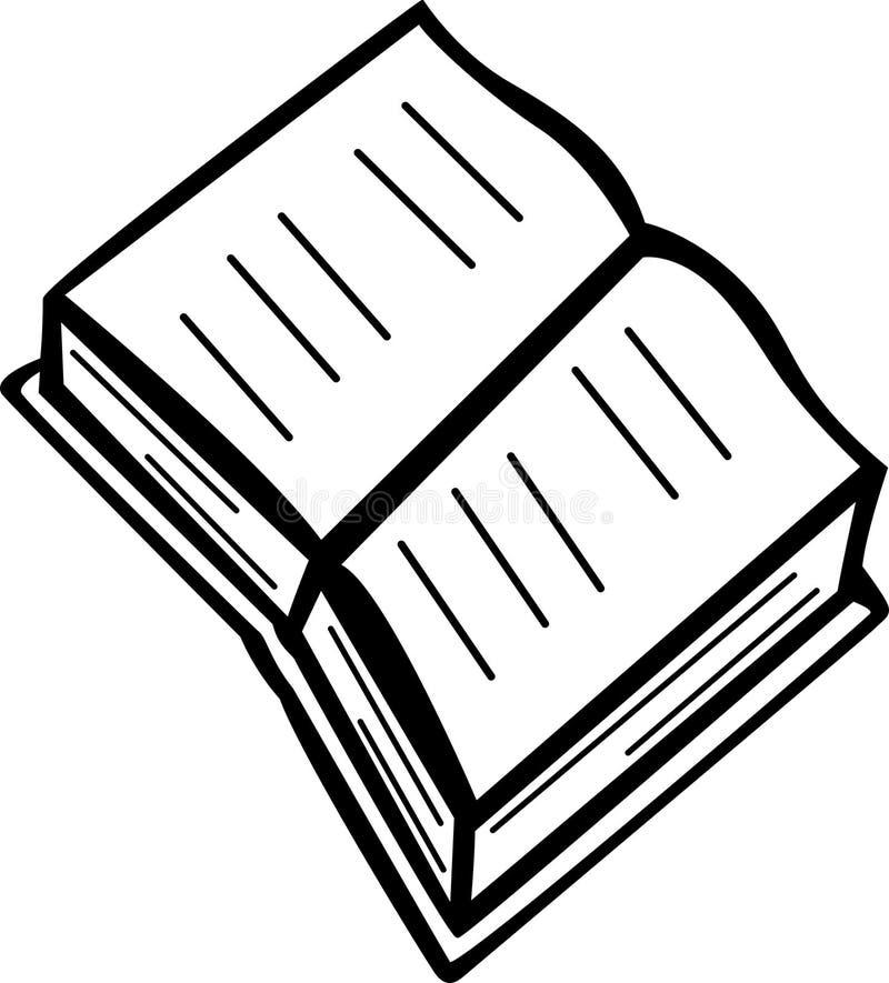 Abra el libro stock de ilustración