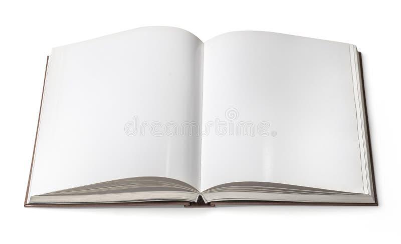 Abra el libro aislado imagen de archivo