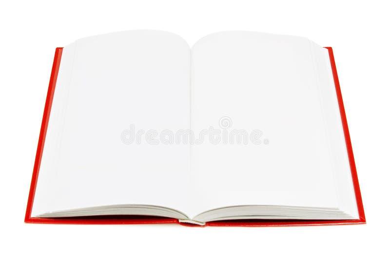 Abra el libro (aislado en blanco) fotos de archivo