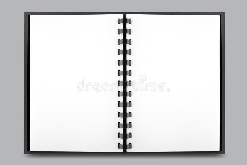 Abra el libro con las hojas limpias aisladas fotografía de archivo libre de regalías