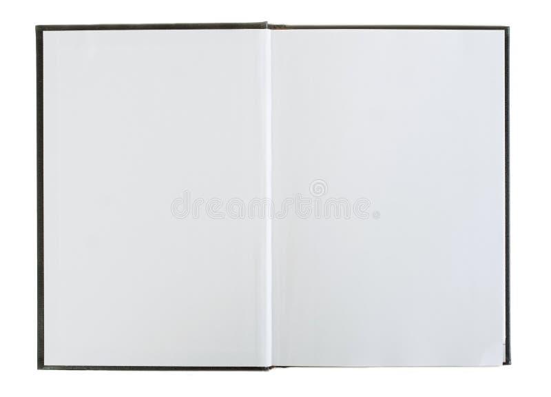 Abra el libro con las paginaciones en blanco. fotos de archivo libres de regalías