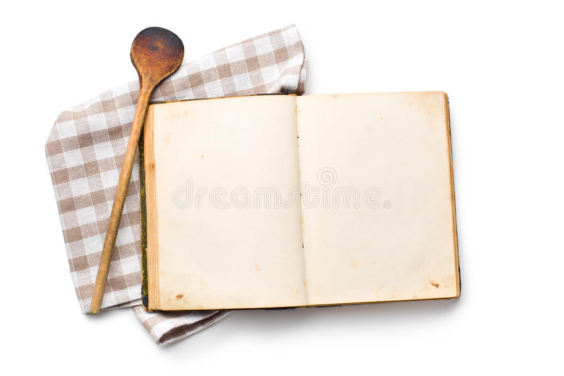 Abra el libro de la receta fotografía de archivo