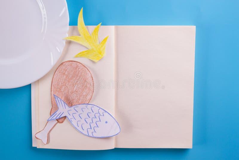 Abra el libro de la receta imagenes de archivo