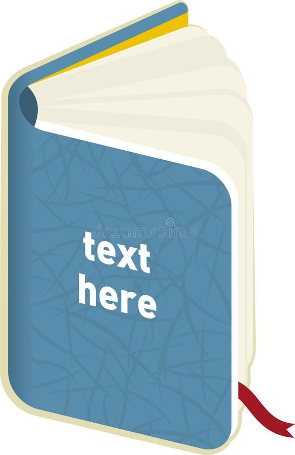 Abra el libro (el vector) ilustración del vector